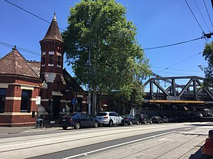 Richmond, Victoria - Swan Street, Richmond with the Swan Street Rail Bridge to the right