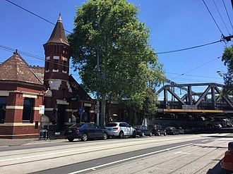Richmond, Victoria - Swan Street, Richmond with the Swan Street Rail Bridge to the right