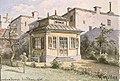 Swedenborgs lusthus, Hornsgatan 43, sedan 1896 på Skansen, akvarell av Herman Müller, 1865.jpg