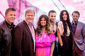 Sweden in the Eurovision Song Contest - Richard and Per Herrey of Herreys (1984), Carola Häggkvist (1991), Måns Zelmerlöw (2015), Loreen (2012) and Björn Ulvaeus of ABBA (1974)