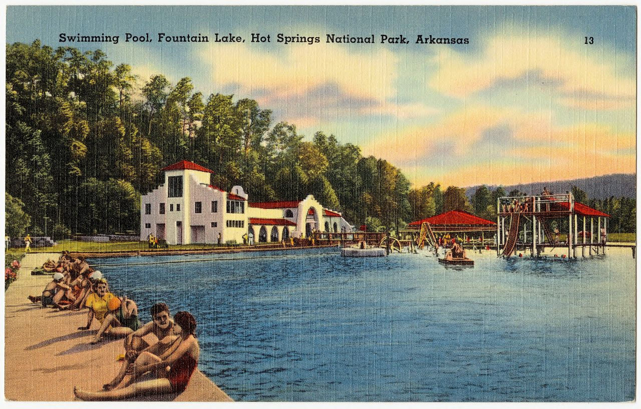 File swimming pool fountain lake hot springs national - Free public swimming pools near me ...