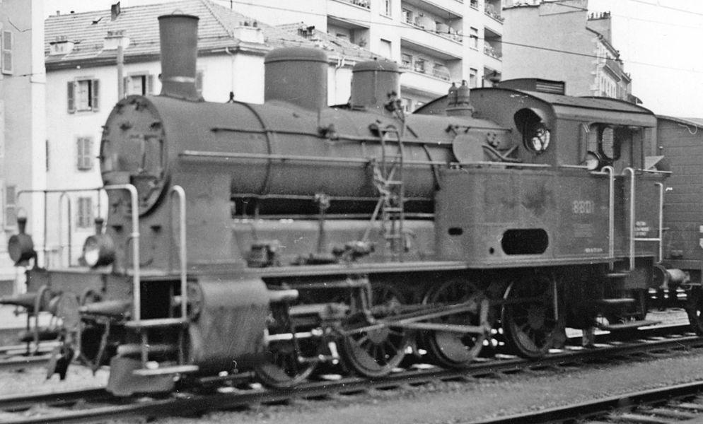 SBB-CFF 0-8-0T at Geneva-Cornavin, 1958.