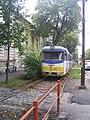 Szeged 4-es villamos Konzervatórium előtti szakasza.JPG