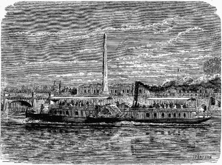 Page figuier les merveilles de la science 1867 1891 - Bateau sur roues ...