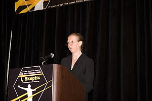 Sharon Begley - Sharon Begley speaking at The Amaz!ng Meeting in 2008