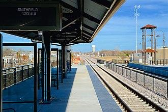 North Richland Hills/Smithfield station - Image: TEX Rail NRH Smithfield 2018 3