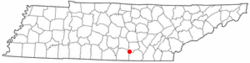 Location of Monteagle, Tennessee