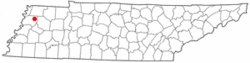 Location of Newbern, Tennessee