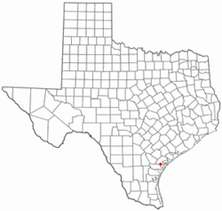 Location of Bayside, Texas