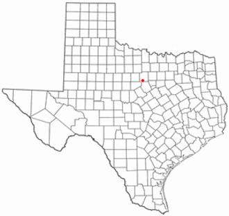 Gordon, Texas - Image: TX Map doton Gordon
