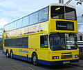 Talisman Coach Lines coach 304 (J534 CEV) 1992 Hong Kong tri-axle (CLP 304, FC 1714), Colchester station, 7 May 2007.jpg