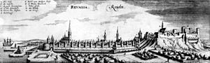 Estonia - Estonian capital Tallinn (then Reval) in the first half of the 17th century.