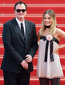 Tarantino with Margot Robbie at the 2019 Cannes Film Festival