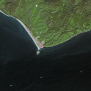 Isla de Las Palomas - Aerial view of the Isla de Las Palomas