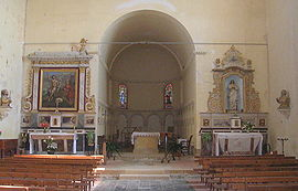 Interior of the church of Tasque