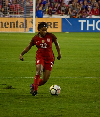Taylor Smith (soccer) - Playing in a friendly for the national team in 2017