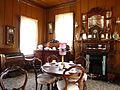 Tea room with interior decoration, Shantytown Historical Park, New Zealand.jpg