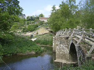 River Frome, Somerset - Image: Tellisford bridge