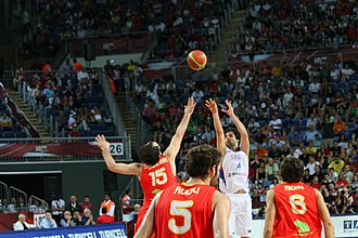 Miloš Teodosić - Teodosić's game-winning 3-pointer over Jorge Garbajosa during the 2010 FIBA World Championship quarterfinal versus Spain.