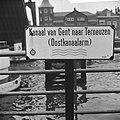Terneuzen oude sluis, aanwijzingsbord ANWB kanaal van Gent naar Terneuzen, Bestanddeelnr 916-0067.jpg