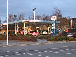 English: Tesco Petrol Station, St Mellons.