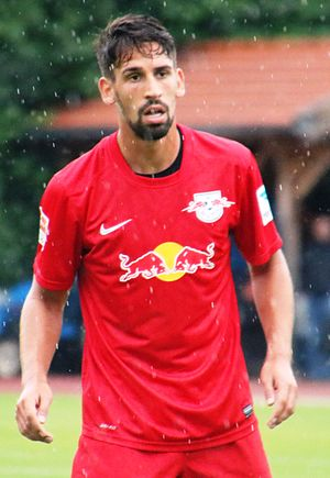 Rani Khedira - Khedira playing for RB Leipzig in a friendly match against Liefering.