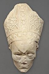 Tête du gisant du cardinal Pierre Ithier