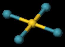 tetraxenongold ball model