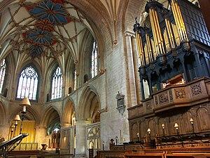 Dallam family - Image: Tewkesbury abbey 08