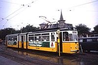 Thüringerwaldbahn Gotha G4-65 tram no 216 in Gotha,Thüringen. Germany Aug 1991 (4778279162).jpg