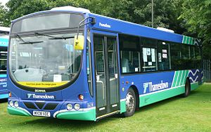 Thamesdown Transport - Wright Solar bodied Scania K230UB at the 2008 Alton bus rally at Anstey Park.