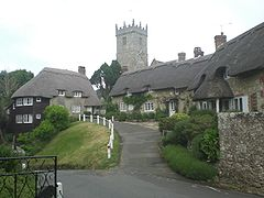 Thatched cottages in Godshill.JPG