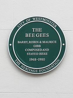 The bee gees   barry gibb, robin gibb %26 maurice gibb composed and stayed here 1968 1980