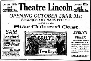 The Brute (1920 film) - Newspaper advertisement for the film