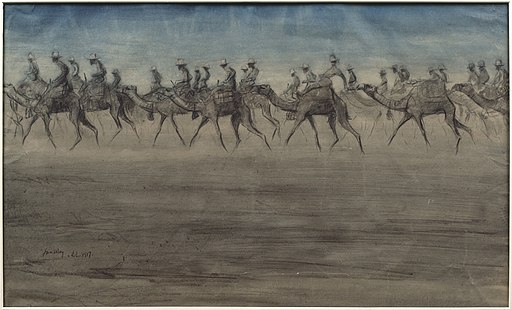 The Camel Corps- a Night March to Beersheba Art.IWMART2926