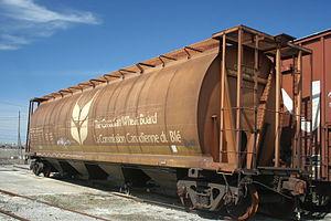 Canadian Wheat Board - Hopper car with Canadian Wheat Board markings.