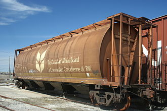 Canadian Wheat Board - Hopper car with Canadian Wheat Board markings.
