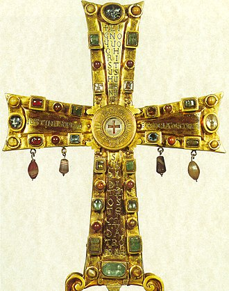 Cross of Justin II - Front side of the Cross of Justin II