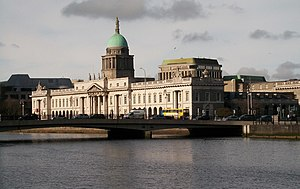 Matt Talbot - The Custom House and Matt Talbot Memorial Bridge from City Quay