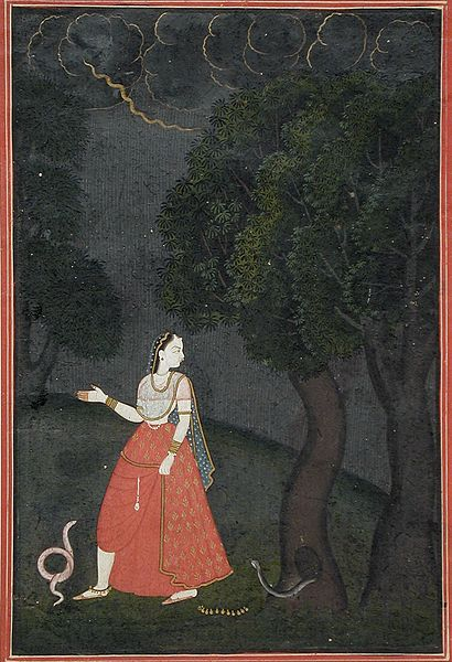 File:The Eager Heroine on Her Way to Meet Her Lover out of Love (Kama Abhisarika Nayika) LACMA M.71.49.6.jpg