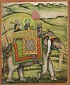 The Emperor Bahadur Shah Mounted on an elephant. End of 17cent. Bibliothèque nationale de France, Paris.jpg