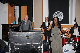 James Taylor Quartet - The James Taylor Quartet in Pizza Express, Maidstone, England, December 2010, with vocalist Yvonne Yanney