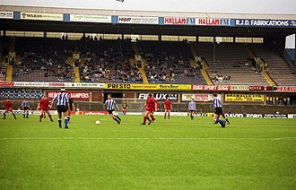 Hillsborough disaster - The West Stand of Sheffield Wednesday's Hillsborough Stadium, where the disaster unfolded, seen two years later in 1991.
