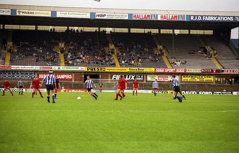 The Leppings Lane Stand at Hillsborough in 1991 - geograph.org.uk - 2807209.jpg