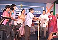 The Minister of Information, Manipur, Shri T.N. Haokip lighting the inaugural lamp at the Bharat Nirman Campaign at Malom Community Hall at Imphal on September 26, 2006.jpg