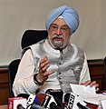 The Minister of State for Housing and Urban Affairs (IC), Shri Hardeep Singh Puri addressing the press conference, in New Delhi on March 05, 2018.jpg