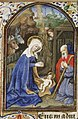 The Nativity - the adoration of the Christ-child by Mary and St. Joseph - Book of hours Simon de Varie - KB 74 G37 - 066r min.jpg