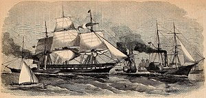 USS Supply (1846) - The Paraguay Squadron (Harper's Weekly, New York, 16 October 1858).