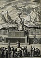 The Phillip Medhurst Picture Torah 517. Burnt offering. Leviticus 1 vv 8-14. Heuman.jpg