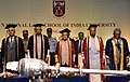 The President, Shri Pranab Mukherjee at the 24th annual convocation of the National Law School of India University, Bangalore, in Karnataka.jpg